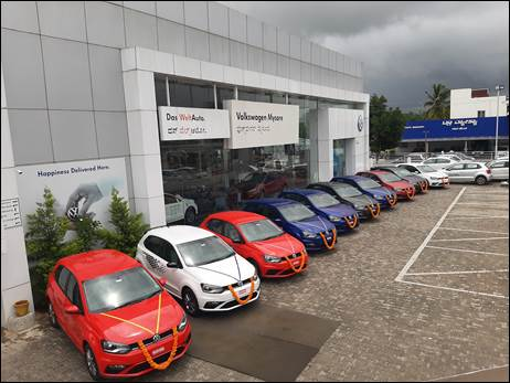 VW India delivers 100 cars in a day