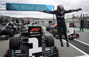 Hamilton owns the most Formula 1 race wins record with number 92 at Portimao